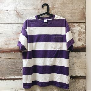 Urban Outfitters // striped pocket t-shirt